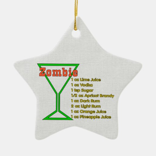 Zombie Double-Sided Star Ceramic Christmas Ornament