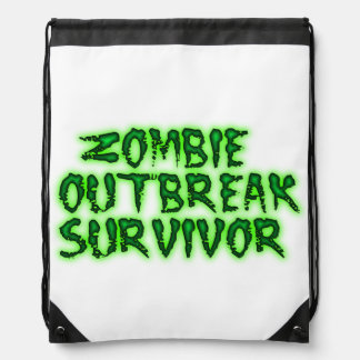 Zombie Outbreack Survivor drawstring backpack