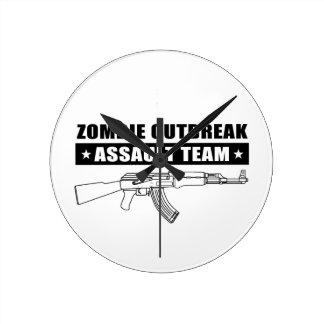 Zombie Outbreak Assault Team Gear Wallclocks