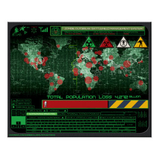 Zombie Outbreak Battle Field Management System Poster