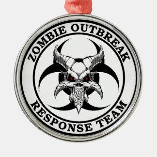 Zombie Outbreak Biohazard Demon Metal Ornament