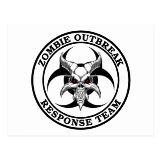 Zombie Outbreak Biohazard Demon Postcard
