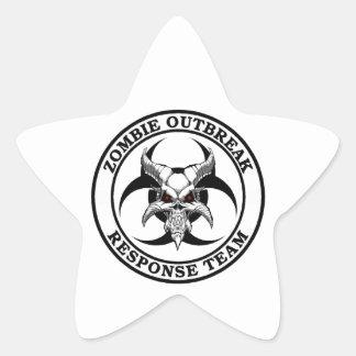 Zombie Outbreak Biohazard Demon Star Sticker