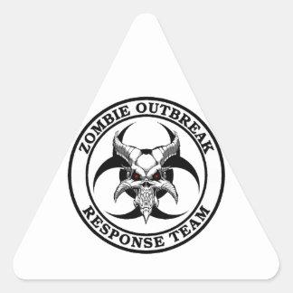 Zombie Outbreak Biohazard Demon Triangle Sticker