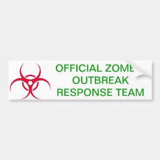 Zombie Outbreak Car Bumper Sticker