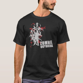 Zombie Outbreak Complicated for Dark Colors Illist T-Shirt