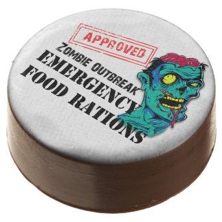 Zombie Outbreak Emergency Food Custom Oreo Cookies Chocolate Dipped Oreo