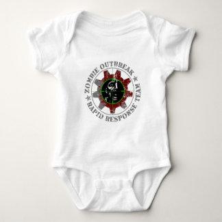 Zombie Outbreak Rapid Response - Green Sights Baby Bodysuit