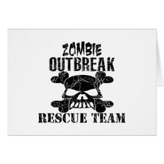 Zombie Outbreak Rescue Team Greeting Cards