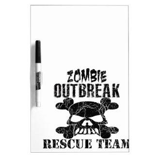 Zombie Outbreak Rescue Team Dry-Erase Board