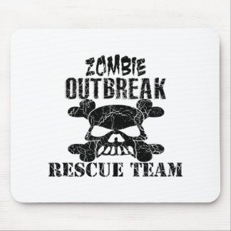 Zombie Outbreak Rescue Team Mouse Pad