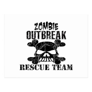 Zombie Outbreak Rescue Team Postcard