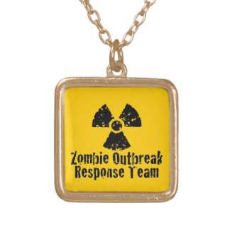 Zombie Outbreak Response Personalized Necklace