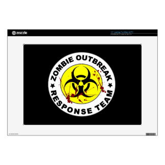 "Zombie Outbreak Response Team. 15"" Laptop Decal"