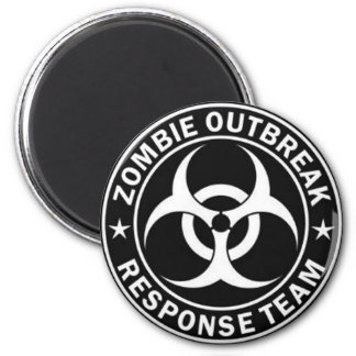 Zombie outbreak response team 2 inch round magnet