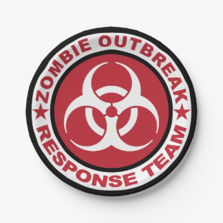 Zombie Outbreak Response Team 7 Inch Paper Plate