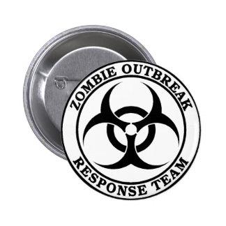 Zombie Outbreak Response Team (Biohazard) 2 Inch Round Button