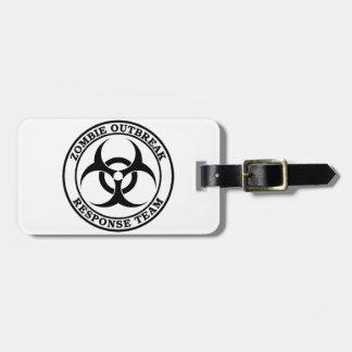 Zombie Outbreak Response Team (Biohazard) Bag Tag
