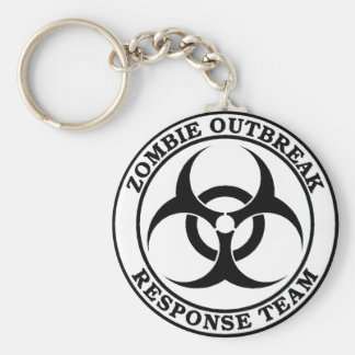 Zombie Outbreak Response Team (Biohazard) Basic Round Button Keychain