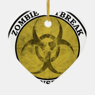 Zombie Outbreak Response Team (Biohazard) Ceramic Ornament