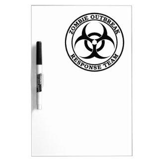 Zombie Outbreak Response Team (Biohazard) Dry-Erase Boards