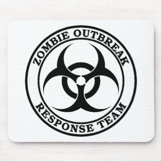 Zombie Outbreak Response Team (Biohazard) Mousepads