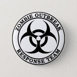 Zombie Outbreak Response Team (Biohazard) Pinback Button