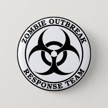 reaphavok Zombie Outbreak Response Team (Biohazard) Pinback Button
