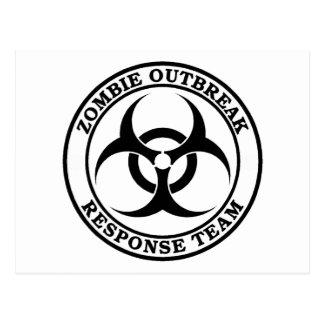 Zombie Outbreak Response Team (Biohazard) Postcard