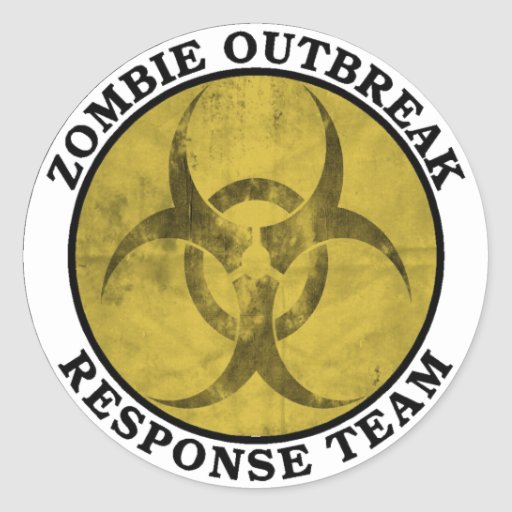 Zombie Outbreak Response Team (Biohazard) Round Sticker