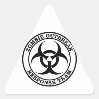 Zombie Outbreak Response Team (Biohazard) Triangle Sticker