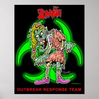 """Zombie Outbreak Response Team"" - Cartoon Zombie P Print"