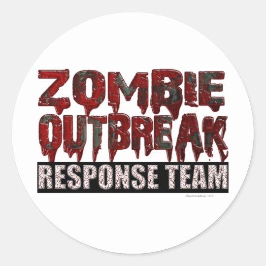 Zombie Outbreak Response Team Classic Round Sticker