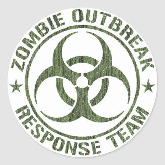Zombie Outbreak Response Team Classic Round Sticker
