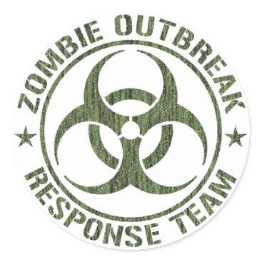 redsmurf77 Zombie Outbreak Response Team Classic Round Sticker