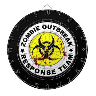 Zombie Outbreak Response Team. Dartboard With Darts
