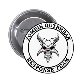 Zombie Outbreak Response Team (Demonhead) Pinback Buttons