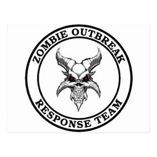 Zombie Outbreak Response Team (Demonhead) Postcard
