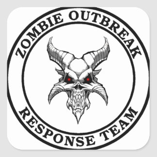 Zombie Outbreak Response Team (Demonhead) Square Sticker