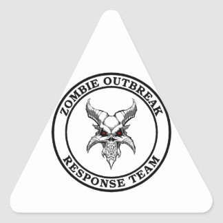 Zombie Outbreak Response Team (Demonhead) Triangle Sticker