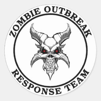 Zombie Outbreak Response Team (Demonhead) Classic Round Sticker