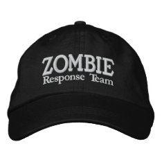Zombie Outbreak Response Team Embroidered Baseball Hat at Zazzle