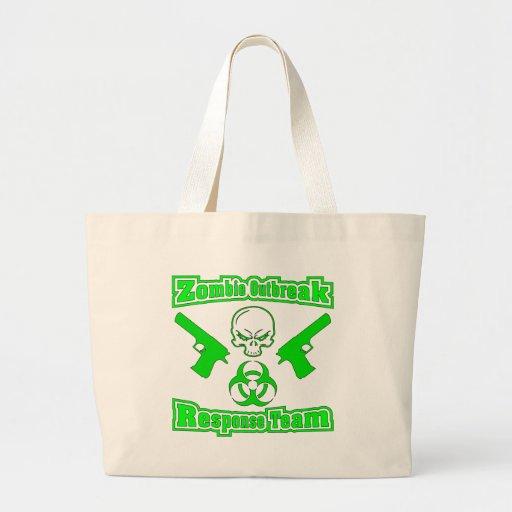Zombie Outbreak Response Team Jumbo Tote Bag