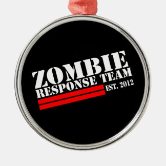 Zombie Outbreak Response Team Metal Ornament