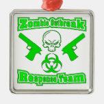 Zombie Outbreak Response Team Metal Ornament