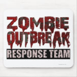 Zombie Outbreak Response Team Mousepads