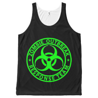 Zombie Outbreak Response Team Neon Green All-Over Print Tank Top
