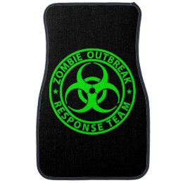Zombie Outbreak Response Team Neon Green Car Floor Mat