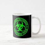 Zombie Outbreak Response Team Neon Green Coffee Mug