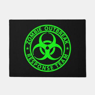 Zombie Outbreak Response Team Neon Green Doormat